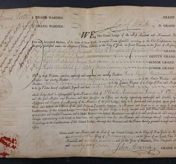 Warrant for Official Creation of Lodge