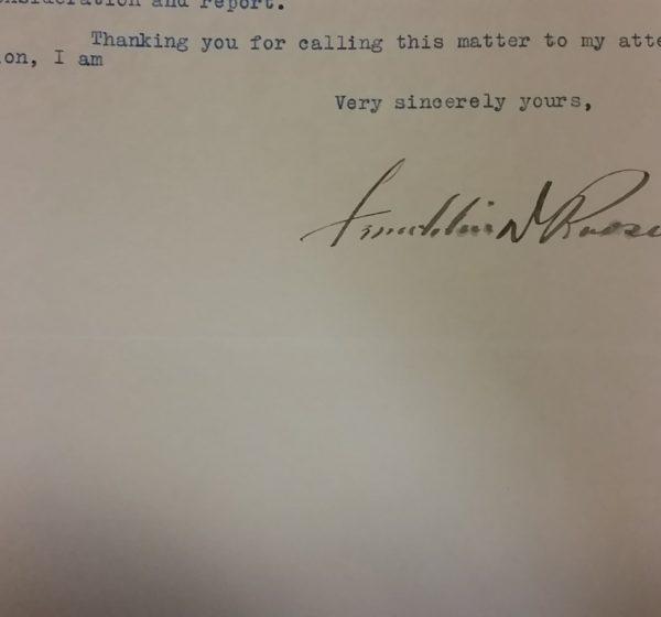 Franklin Delano Roosevelt's Signature